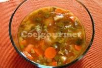 Captura de Sopa de cenoura e alho poró