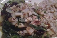 Captura de Espinafre salteado com camarão