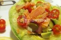 Captura de Ninho de alface, salmão e abacate