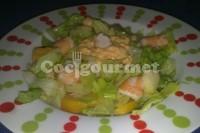 Captura de Salada de camarão e frutas