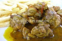 Captura de Frango ensopado com batatas fritas