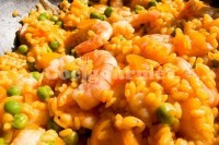 Captura de Paella com frutos do mar