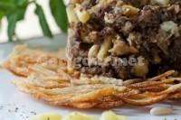 Captura de Ovos mexidos com morcilha, pinhão e maçã