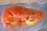 Captura de Peixe no celofane cozido no vapor