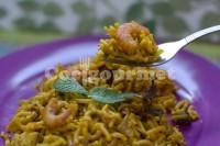 Captura de Paella de macarrão e frutos do mar
