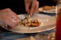 Captura de Salada de salmão com vagem salteada